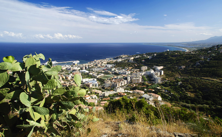 Bastia von oben